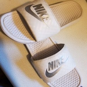 Nike slide ons